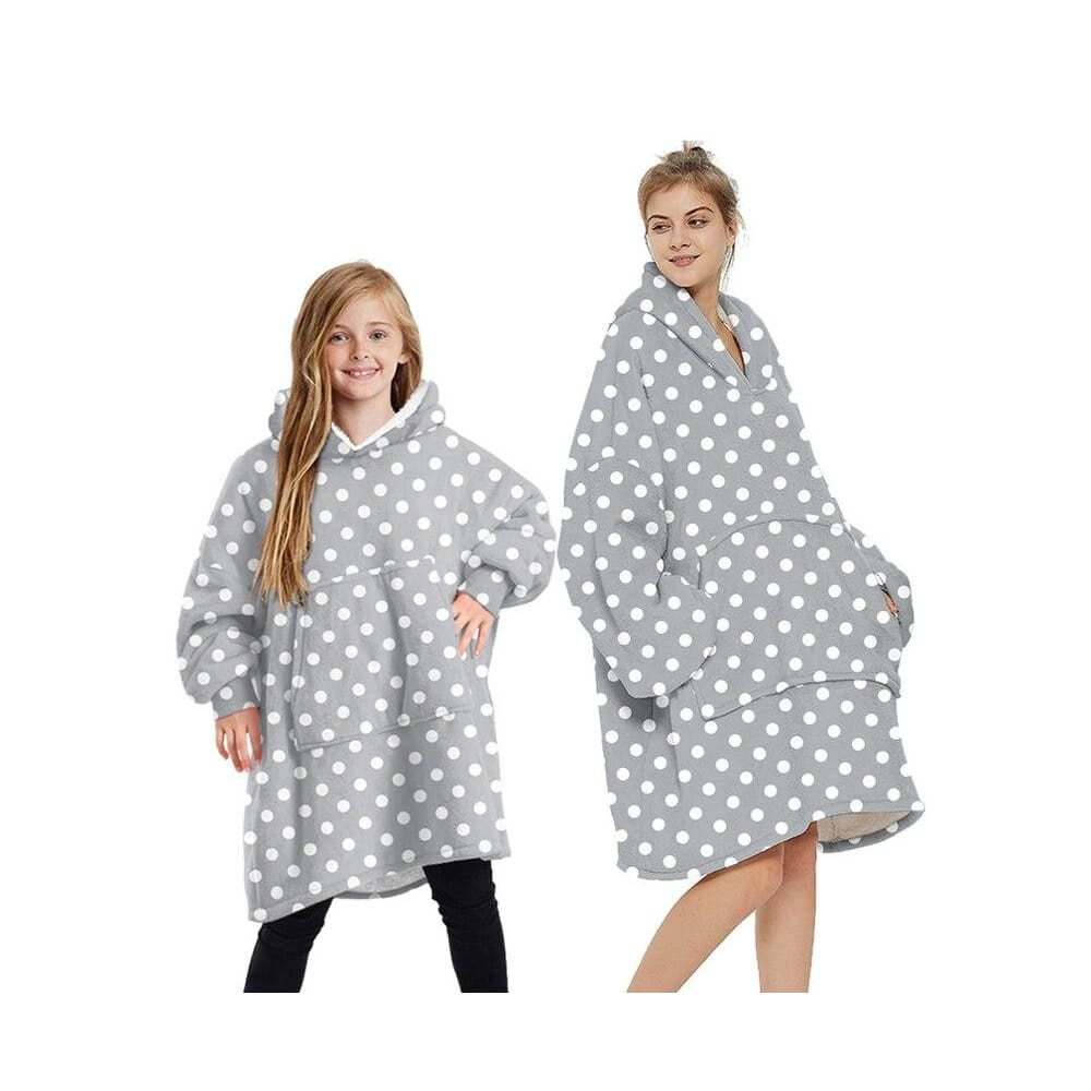 Wearable blankets printed - grey dot / kids