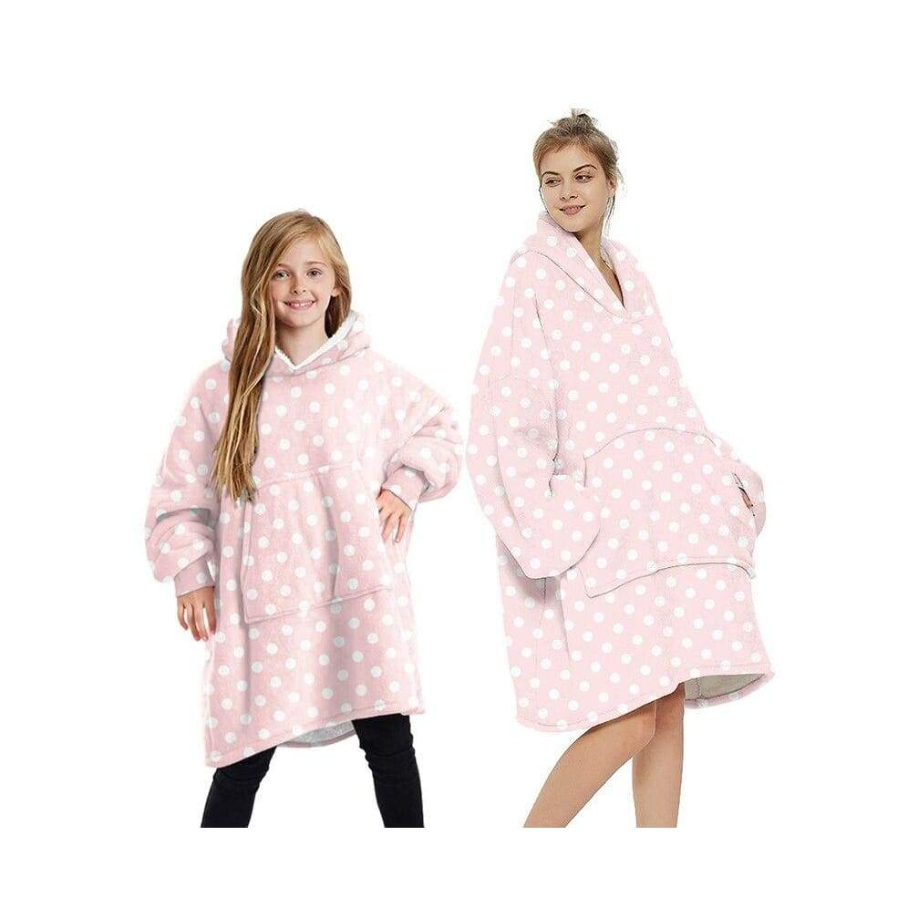 Wearable blankets printed - pink dot / kids