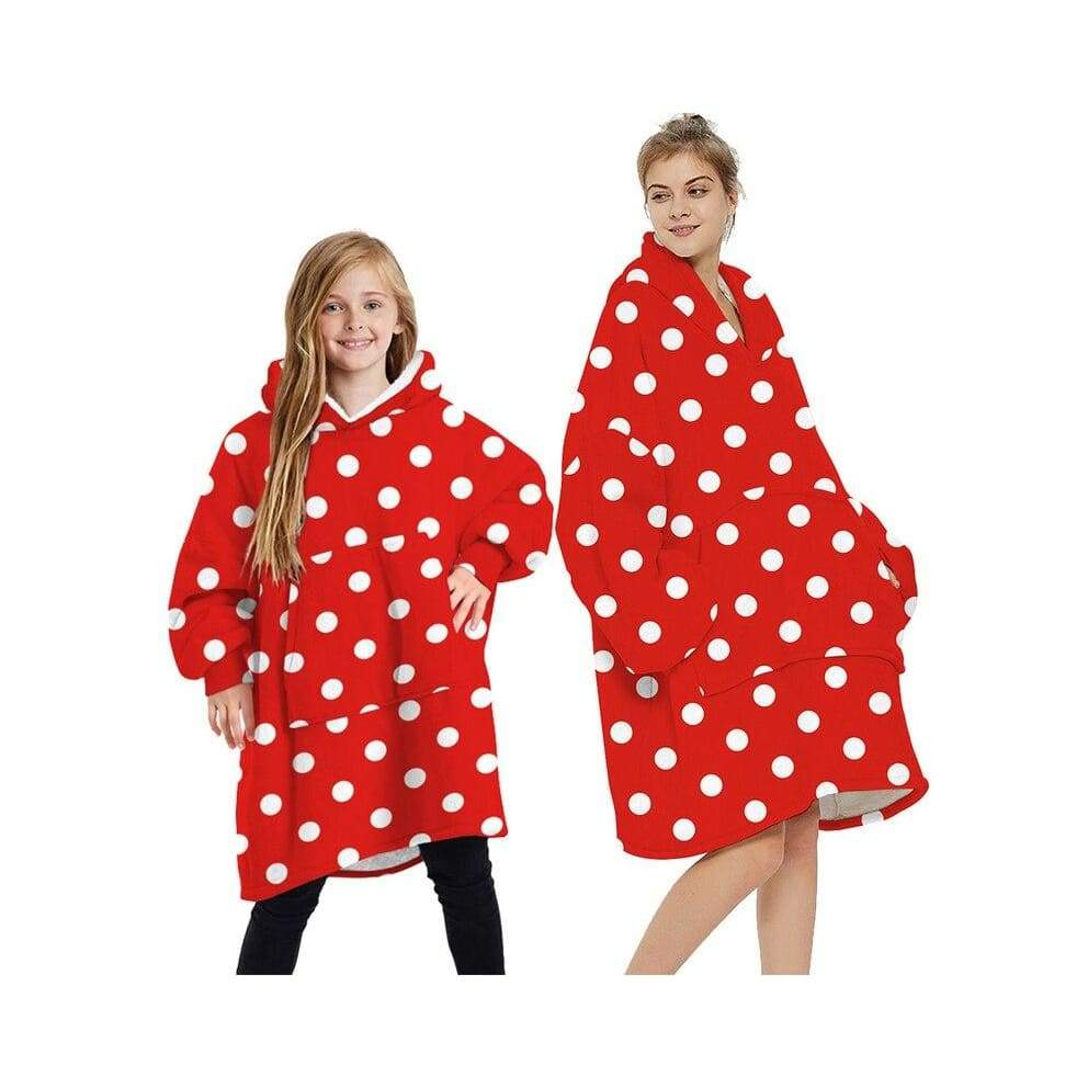 Wearable blankets printed - red / kids