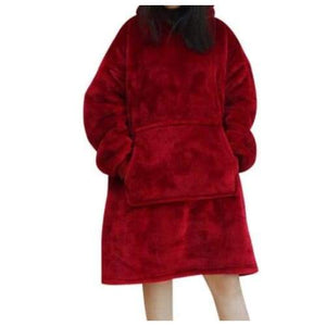 Wearable blankets printed - solid red / kids