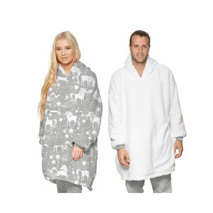 Wearable blankets printed - unicorn / adult
