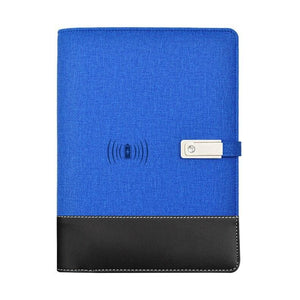 Wireless phone charging notebook - blue / a5 - business