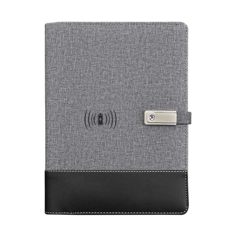 Wireless phone charging notebook - gray / a5 - business