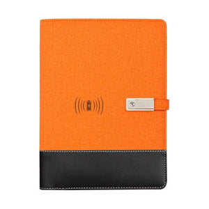 Wireless phone charging notebook - orange / a5 - business