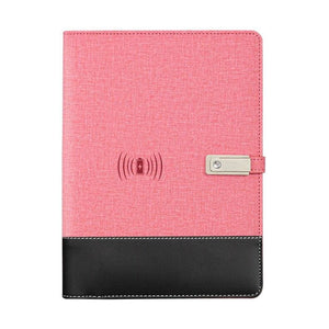 Wireless phone charging notebook - pink / a5 - business