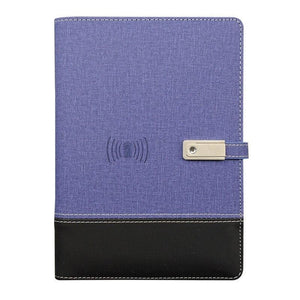 Wireless phone charging notebook - purple / a5 - business