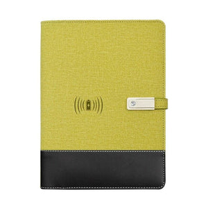 Wireless phone charging notebook - yellow / a5 - business