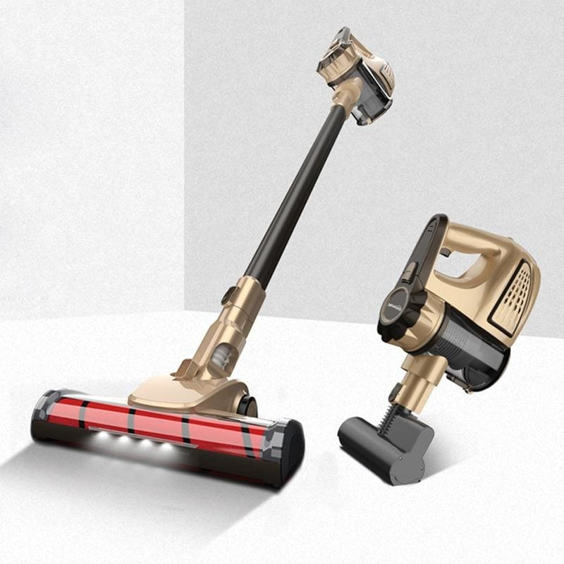 Wireless vacuum cleaner - gold - home cleaning
