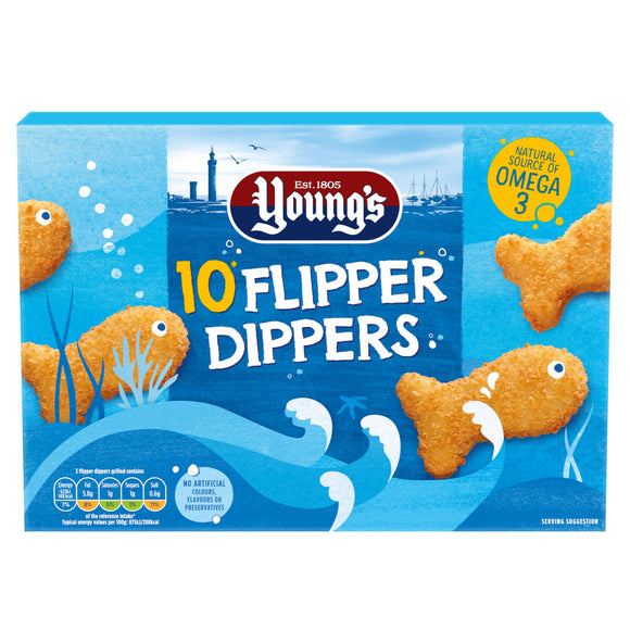 UK Young's Flipper Dippers in Breadcrumbs 250g