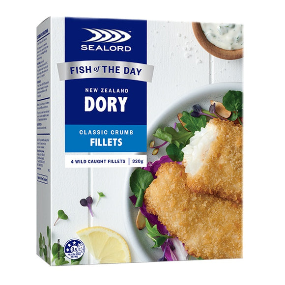 New Zealand Sealord Dory Classic Crumbed Fillets 320g