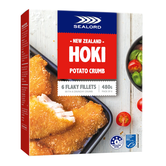 New Zealand Sealord Hoki Potato Crumbed 480g