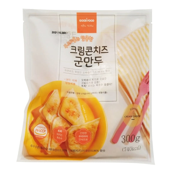 Korea Good Food Creamy Corn Cheese Fried Dumpling 300g