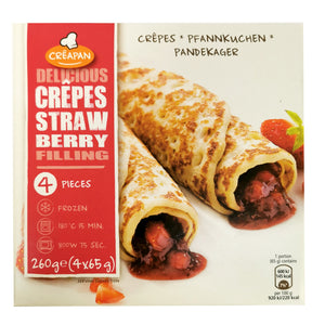 Belgium Creapan Strawberry Filled Crepes (4pcs) 260g