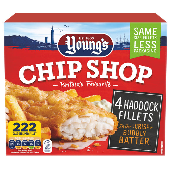UK Young's C S Haddock Fillets in Bubbly Batter 400g