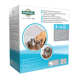 Fontana Seaside PetSafe® per animali domestici in acciaio inox
