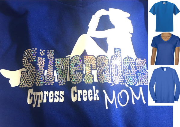 Cy-Creek Silverados Mom T-Shirt in Spangles