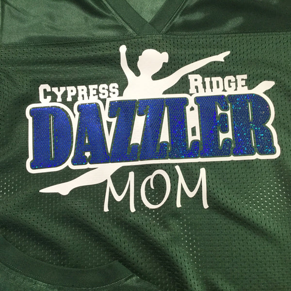 Cy-Ridge Dazzler Mom Spangle Poly Jersey with optional name on back