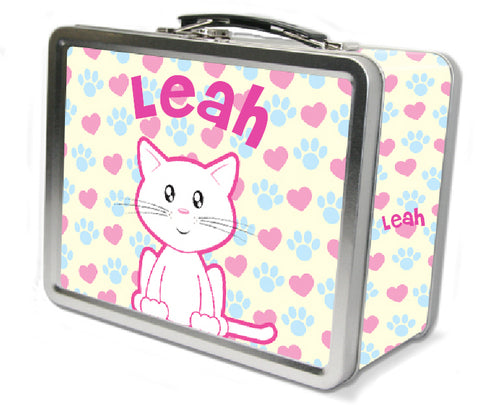 Cute white cat lunchbox