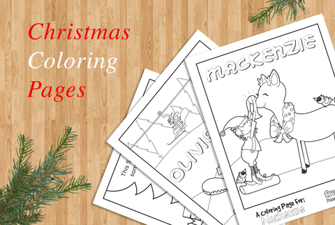 Christmas coloring oages