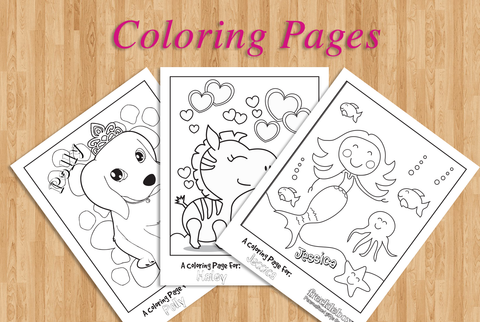 Coloring Pages for Girls - drawing games – frecklebox