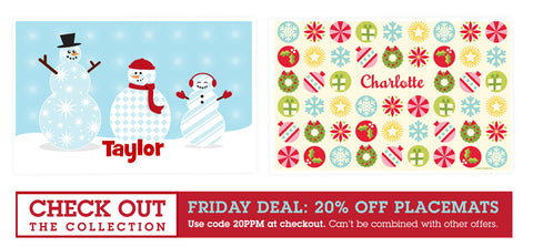 Deal of the Day - 20% off Placemats sale