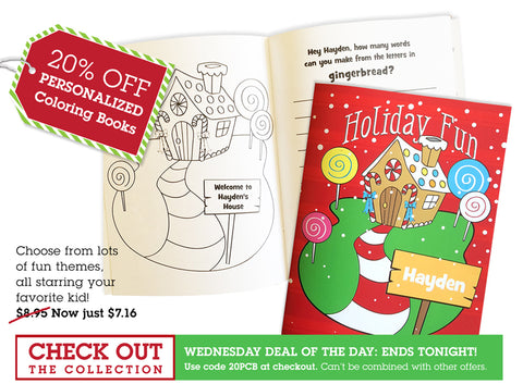 Deal of the Day - 20% off Coloring Books Sale