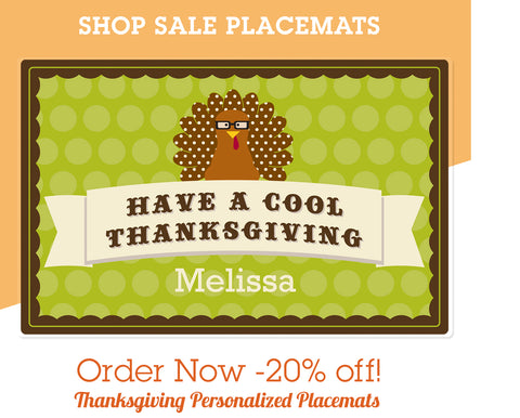20% off Thanksgiving Placemats November 2018