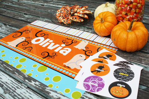 Frecklebox personalized Halloween goodies