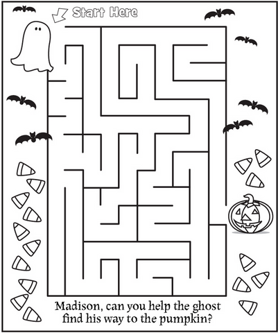 Ghost in maze coloring