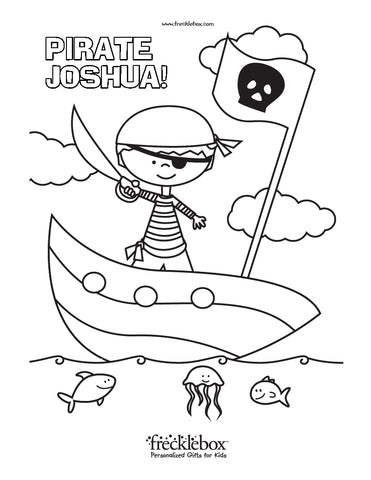 pirate fish coloring page