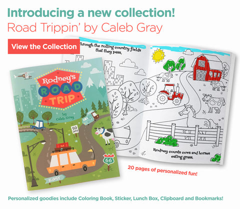 Road Trippin' Coloring Book by Caleb Gray Studio