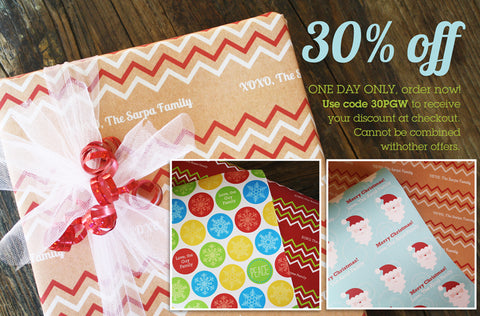 Deal of the Day - 30% off Gift Wrap Sale