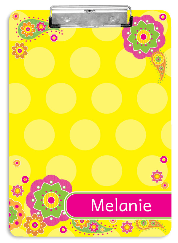 Fancy Flowers Clipboard - frecklebox
