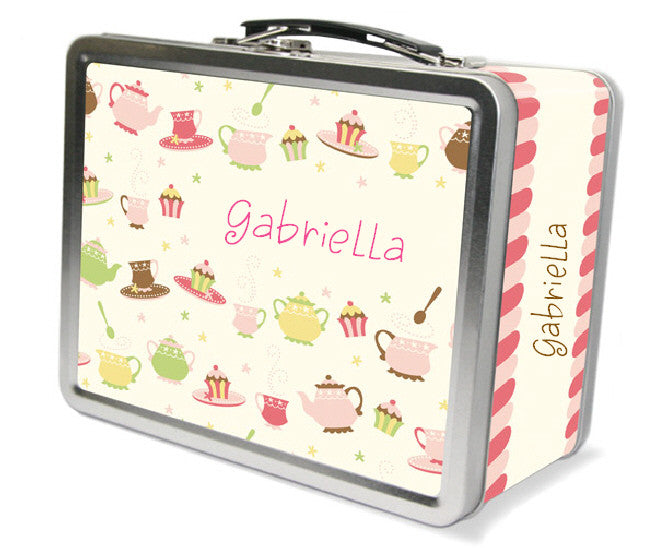 Tea Party Dishes Lunchbox - frecklebox