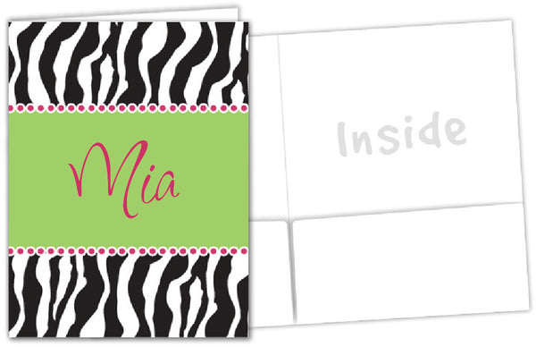 Zebra School Folder - frecklebox