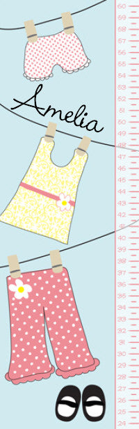 Clothesline Growth Chart - frecklebox