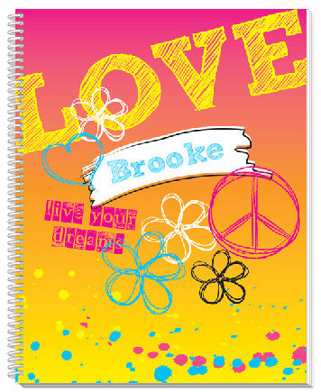 Rockin' Rainbow Notebook - frecklebox