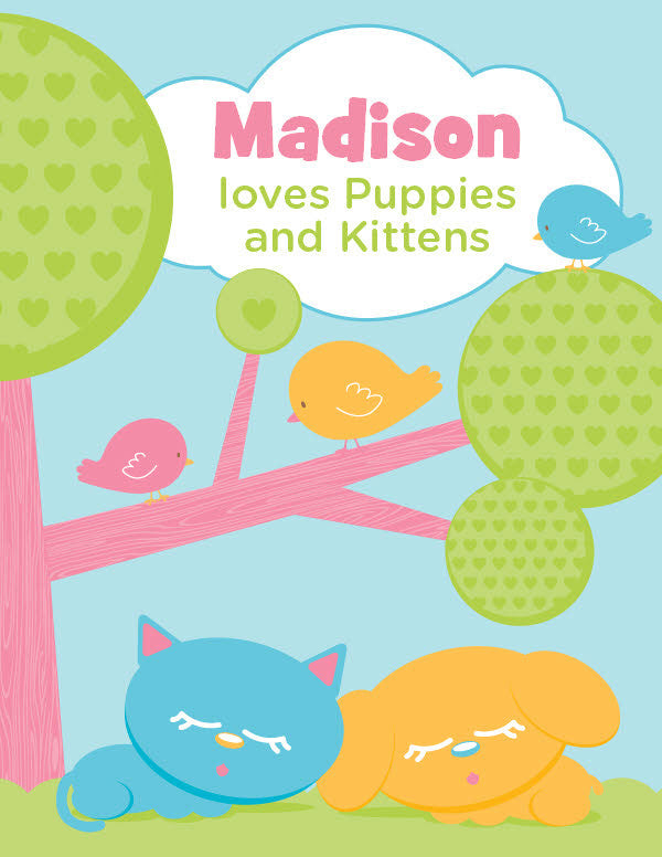 Puppies and Kittens Coloring Book - frecklebox