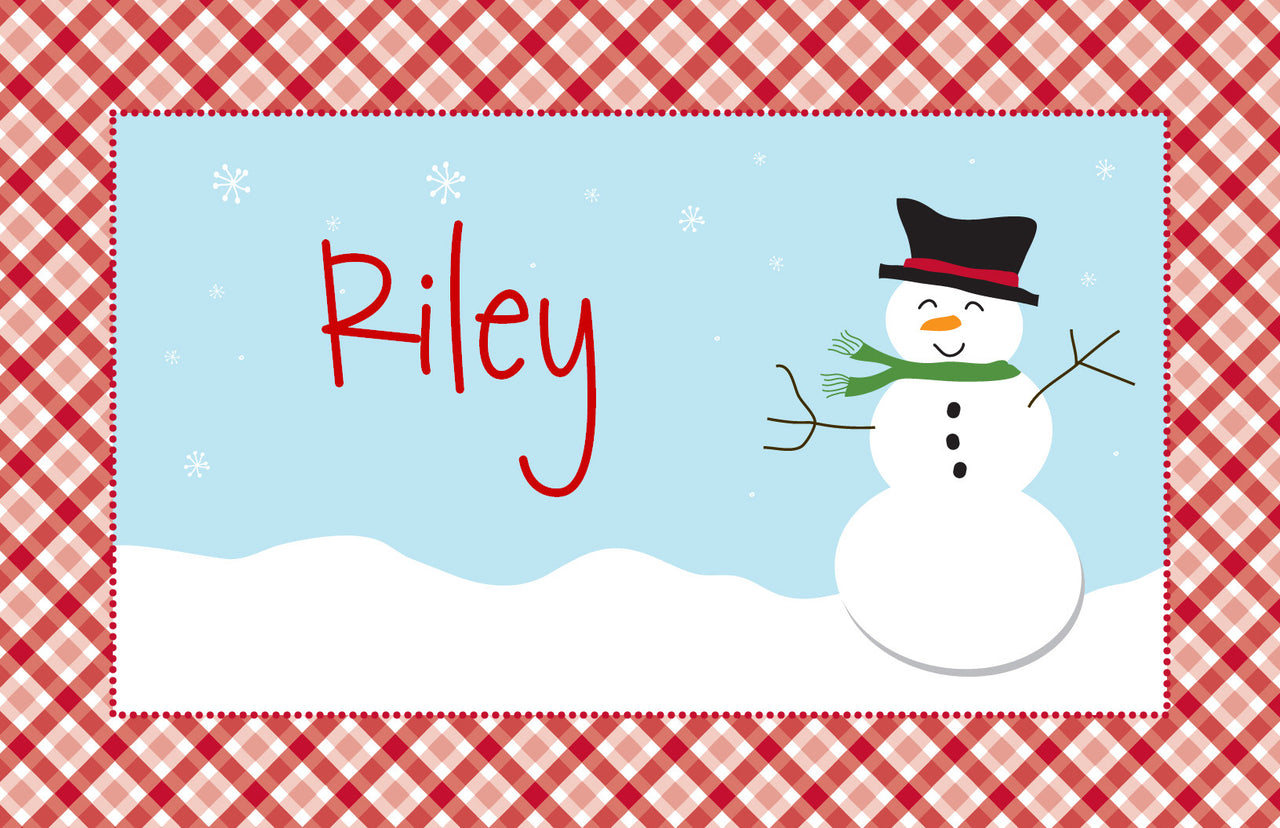 Happy Snowman Placemat - frecklebox