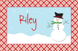 Happy Snowman Placemat - frecklebox - 1