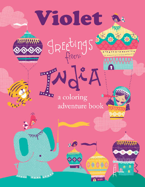 Greetings From India Coloring Book - frecklebox