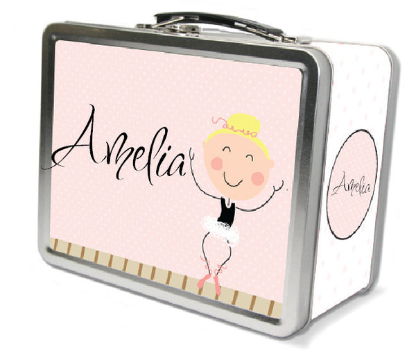 Blonde Hair Ballerina Lunch Box - frecklebox