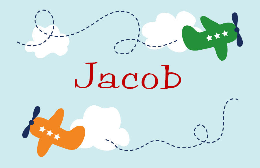Airplanes Personalized Placemat - frecklebox