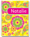 Fancy Flowers Notebook - frecklebox - 1