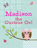Curious Owl Coloring Book - frecklebox - 1