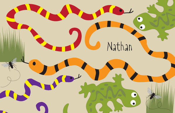 Snakes Placemat - frecklebox
