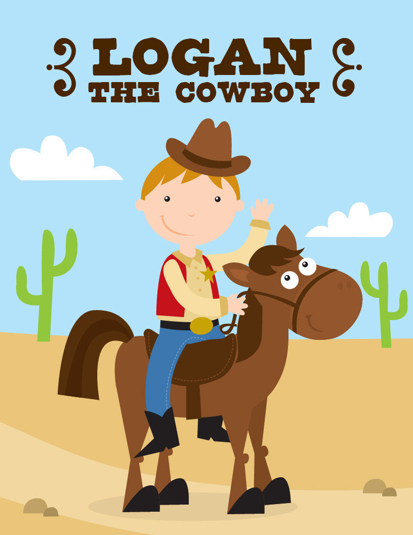 Cowboy Coloring Book - frecklebox