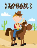 Cowboy Coloring Book - frecklebox - 1