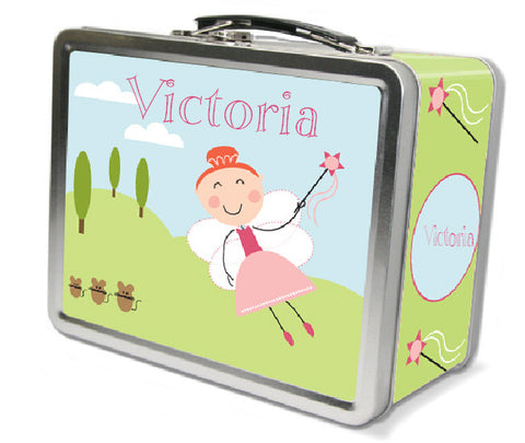 Red Hair Fairy Lunch Box