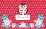 Owl Friends Placemat - frecklebox - 1